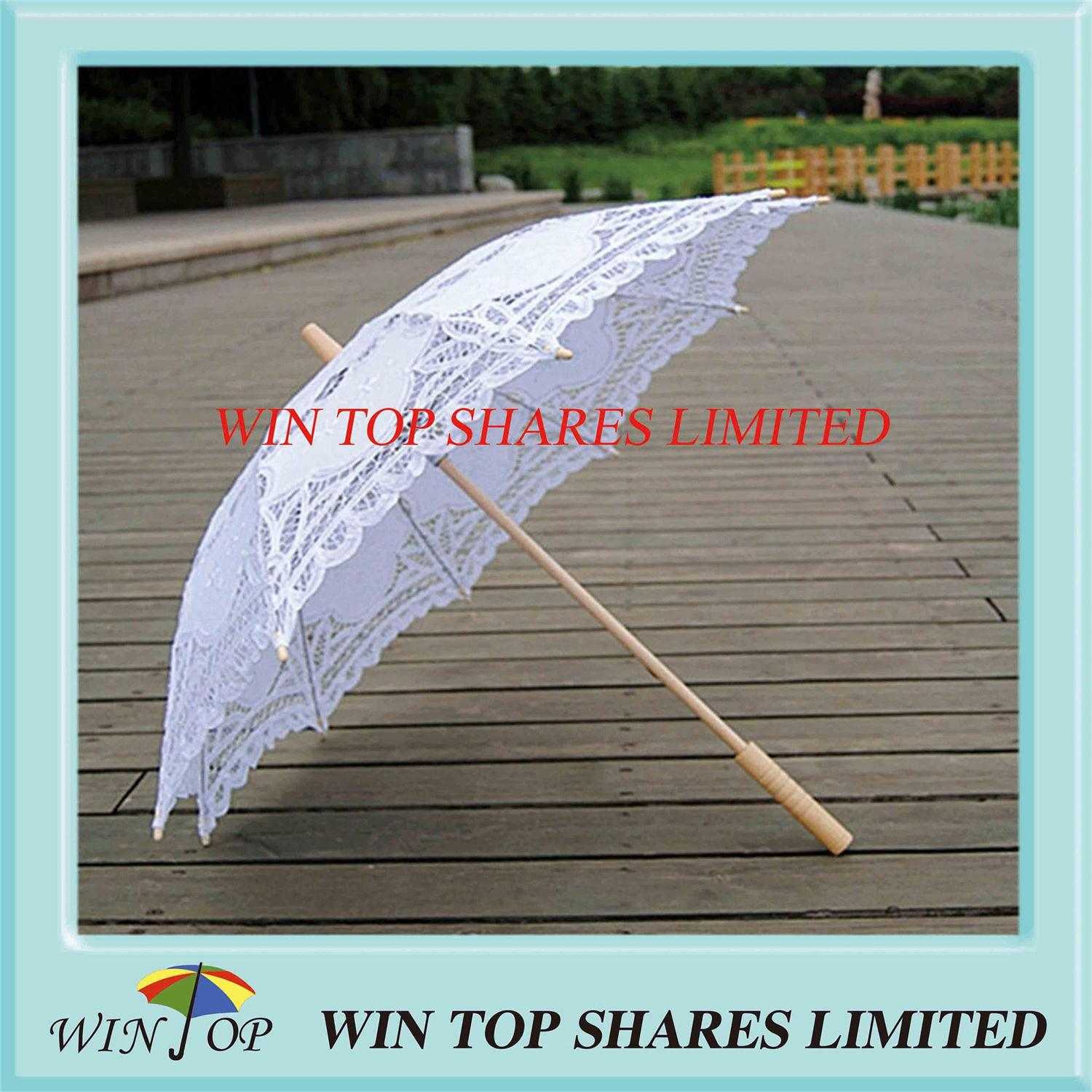 White embroidery craft umbrella factory