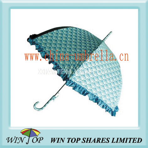 ladies straight pongee umbrella