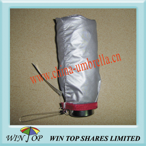 "19.5"" aluminium pongee folding umbrella"