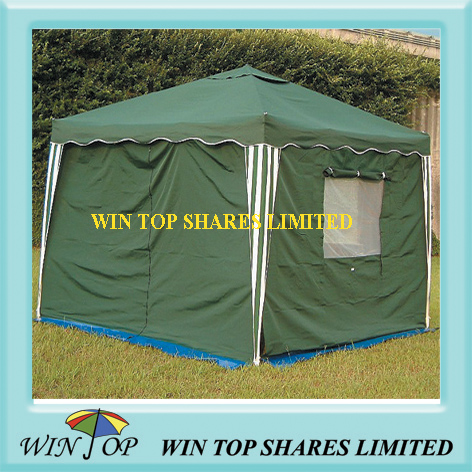 Green square camping tent