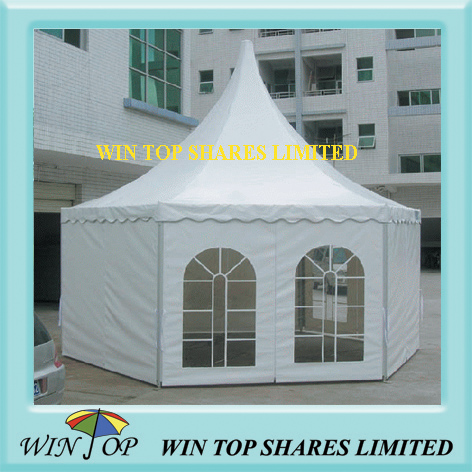 white pagoda booth tent